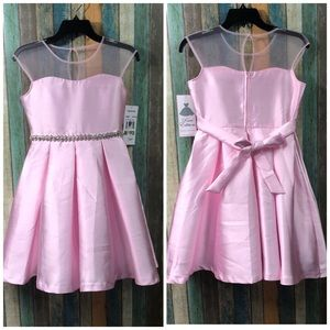Rare Editions Light Pink Formal Dress